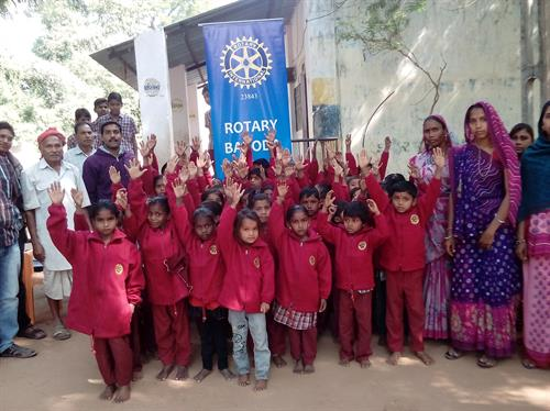 Sweater Distribution to Primary School Children in Chhotaudepur by Rotary Club