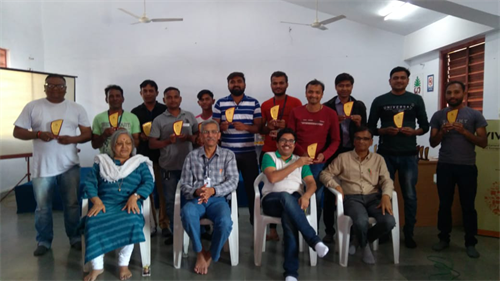 Prize distribution ceremony - Winning team -Cricket - Education and Training division