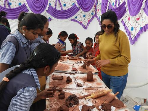 Balmela organized on 28-29 Dec 2017 - playing with clay