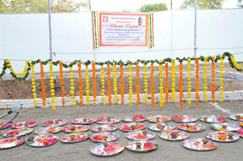 Bhumi Pujan for Uro-Nephro Surgical Unit at Ramkrishna Paramhansa Hospital, Kalali-Vadodara