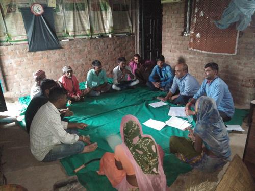 VDC Meeting held at Chiliyavat Village, Chhotaudepur, for NPM and FPC.