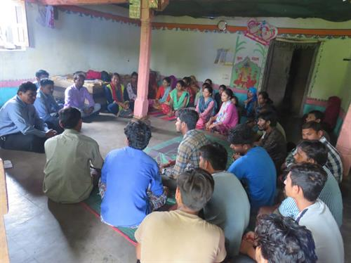 YDC Meeting held at Judavant Village in Chhotaudepur, which was attended by 38 youth.