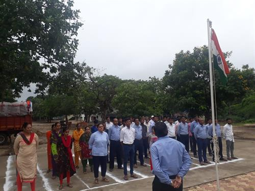 Flag Hoisting Ceremony held at Chhotaudepur in honour of 73rd Indian Independence Day.