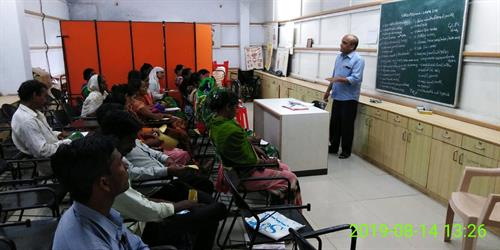 A classroom at VIVEC centre- Chhotaudepur, while a training session is in progress.