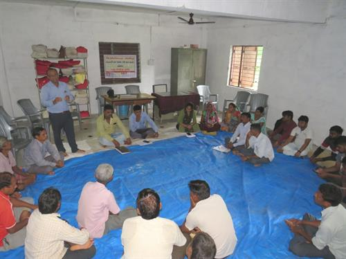 PRI members meeting at Malaja, Chhotaudepur.