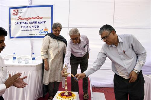 Inauguration of CCU, NICU & PICU at RKPH, Kalali, Vadodara supported by GACL Edu. Society